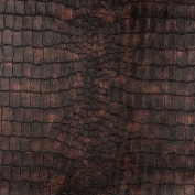 G393 Bronze, Alligator Look Upholstery Faux Leather By The Yard