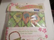A Knitting with Fabric Kit -- Mom Springtime Purse -- Bamboo Handles Included