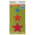 GO! Fabric Cutting Dies-Star 5.1cm , 7.6cm & 10cm
