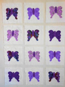 12 Applique Scrap Butterfly Quilt Kit Blocks 17cm Squares