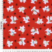 PEEK-A-BOO PUPPY Red FLEECE Fabric (Great for QUILTING, SEWING, CRAFT PROJECTS, THROW PILLOWS & More) 1 1/2 Yards x 150cm Wide