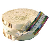 Moda BELLA SOLIDS NEUTRAL Jelly Roll 6.4cm Fabric Quilting Strips Moda 9900JR-21