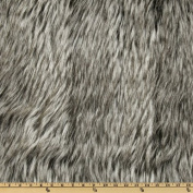 Faux Fur Siberian Husky Black/Grey Fabric