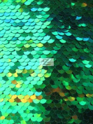 PEARL SEQUINS SPANDEX FABRIC - Green - SOLD BTY 130cm /130cm SPARKLE/SHINY