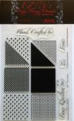KellyCraft EZ-De's Chequered Woven Hearts Polymer Stamp Set, 5.1cm