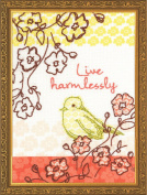 Dimensions Needlecrafts Handmade Embroidery, Live Harmlessly