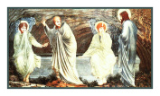 The Morning of the Resurrection by Arts and Crafts Edward Burne-Jones Counted Cross Stitch Chart