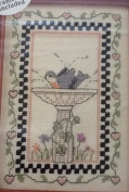 Bird in Bath Sampler - Banar Designs Cross Stitch Kit #KCM 91008