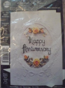 Happy Anniversary Stitch a Card - Ribbon Embroidery Kit #1003