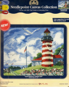 """Lighthouse Landscape"" Needlepoint Canvas Collection"