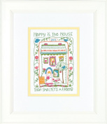 Dimensions Crafts Crewel Embroidery, House Sampler