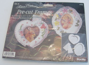 Pre-Cut Frames Silk Ribbon Embroidery Craft Kit #64302 By Bucilla Corp