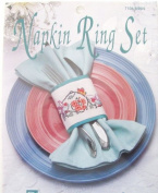 Cross stitch kits Napkin Ring Set Birds