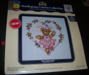 """""""Bear with Hearts"""" Needlepoint Canvas Collection"""