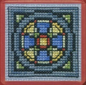 Textile Heritage Magnet Cross Stitch Kit - Stained Glass Window