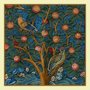 Counted Cross Stitch Chart Tree of Life detail by Arts and Crafts Movement Founder William Morris