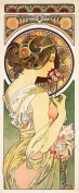 Primrose by Alphonse Mucha Counted Cross Stitch Chart