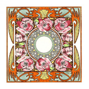 Nocturnal Slumber Detail by Alphonse Mucha Counted Cross Stitch Chart