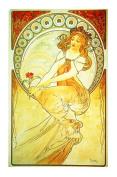The Arts Painting by Alphonse Mucha Counted Cross Stitch Chart