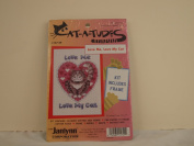 """JANLYNN """"CAT-A-TUDES"""" COUNTED CROSS STITCH KIT """"LOVE ME LOVE MY CAT"""""""