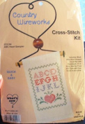 ABC Heart Sampler - Country Wireworks Cross-Stitch Kit 072109