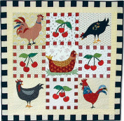 American Jane Patterns Chicken Cherries and Cheques Quilt