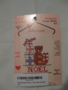 Country Wireworks Christmas Cross-Stitch Kit 'Noel Teddy w/Packages'
