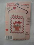 Country Wireworks Christmas Cross-Stitch Kit 'Christmas Basket'