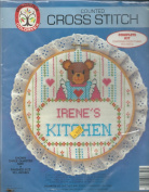 Colortex Counted Cross Stitch kit with lace trim