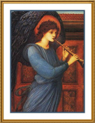 The Angel by Arts and Crafts Edward Burne-Jones Counted Cross Stitch Chart