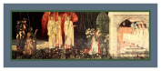 Holy Grail Vision by Arts and Crafts Movement Founder William Morris Counted Cross Stitch Chart