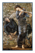The Beguiling of Merlin by Arts and Crafts Edward Burne-Jones Counted Cross Stitch Chart