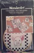 Wonder Art Coasters / Pot Holders Cross Stitch Kit Stamped Goods