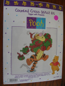 """TIGGER WITH PRESENTS"" Counted Cross Stitch Kit"