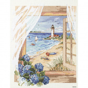 Janlynn View from The Window Counted Cross Stitch Kit