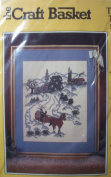 Ride Toward Spring Counted Cross Stitching Craft Kit