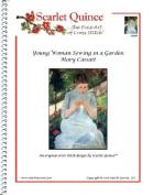 Young Woman Sewing in a Garden - Mary Cassatt