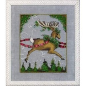 Blitzen Cross Stitch Pattern