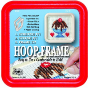 "Easy Street Crafts ""Square"" Embroidery Hoop-Frame, 13cm by 13cm , Red"