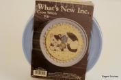 Whats New Inc. FLORAL KITTY 018101 Cross Stitch Kit, BLUE Decorative Tin