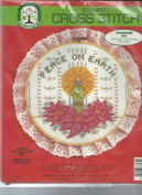 """Colortex 3758 Stamped Cross Stitch """" Peace On Earth """" iKit"""