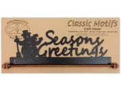 Ackfeld 30cm Seasons Greetings Metal Wall Craft Quilt Textile Holder Hanger