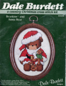 Dale Burdett Bearkins and Santa Bear ~ A Country Christmas Cross Stitch Kit