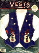 Dimensions Applique Vests Stars 'N Snowmen Kit