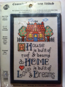 Needlework Magic House Is a Home 13cm X 18cm Counted Cross Stitch Kit Includes Frame