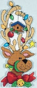 Whimsies - Christmas Counted Cross Stitch Kit - Decked Out Reindeer