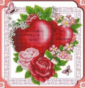 Happy Forever Cross Stitch,love flowers, Mutual affinity 2