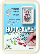"""Easy Street Crafts SF557C """"Square"""" Hoop-Frame, 2 Parts, 13cm by 18cm , Cream"""