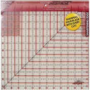 Sullivans 32cm -by-32cm The Cutting EDGE Frosted Ruler