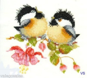 Fuchsia Chick Chat By Valerie Pfeiffer Harmonies Cross Stitch Design